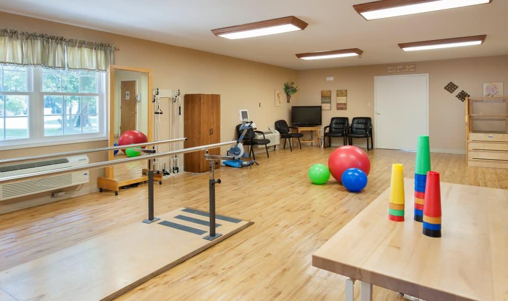Senior rehabilitation area here at Parker Health & Rehabilitation Center