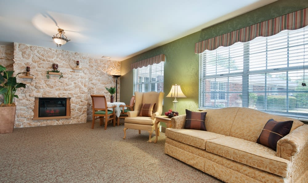 Spacious areas to relax in at Parker Health & Rehabilitation Center