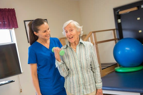 Physical therapy rehab services at Rolling Meadows Health & Rehabilitation Center