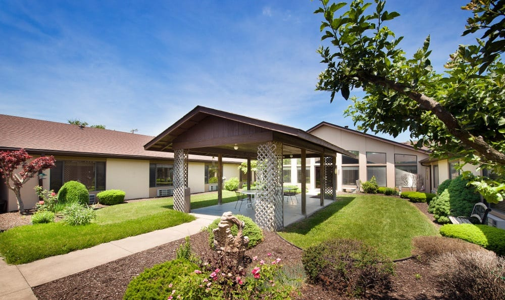 Well maintained yards at our senior health care facility in Marion, IN