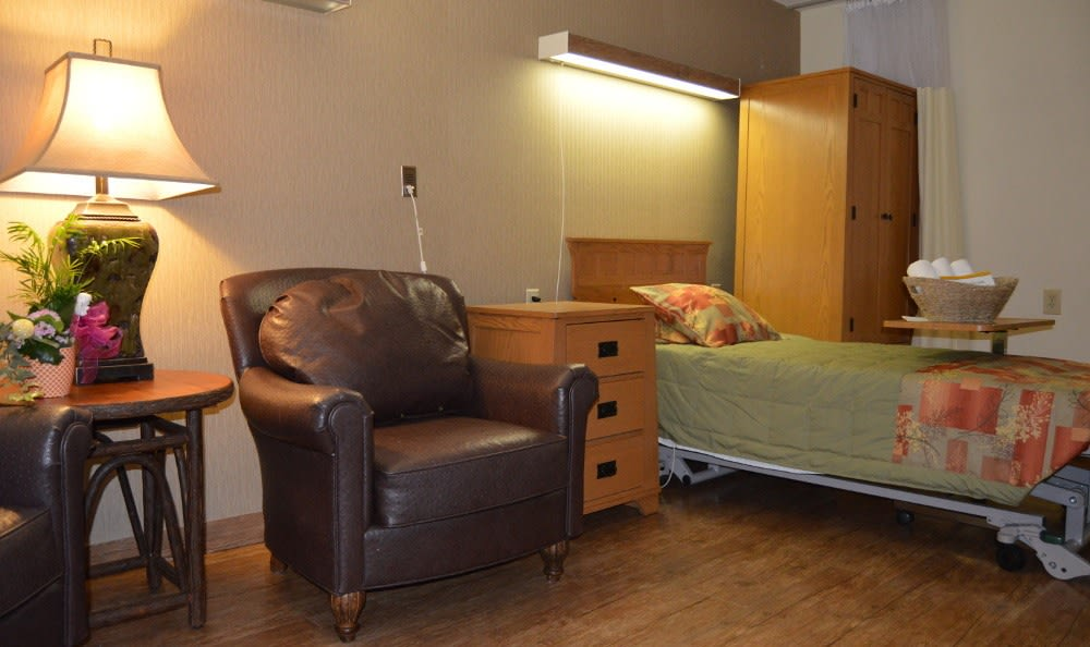 Newly renovated suites at Wesleyan Health & Rehabilitation Center.