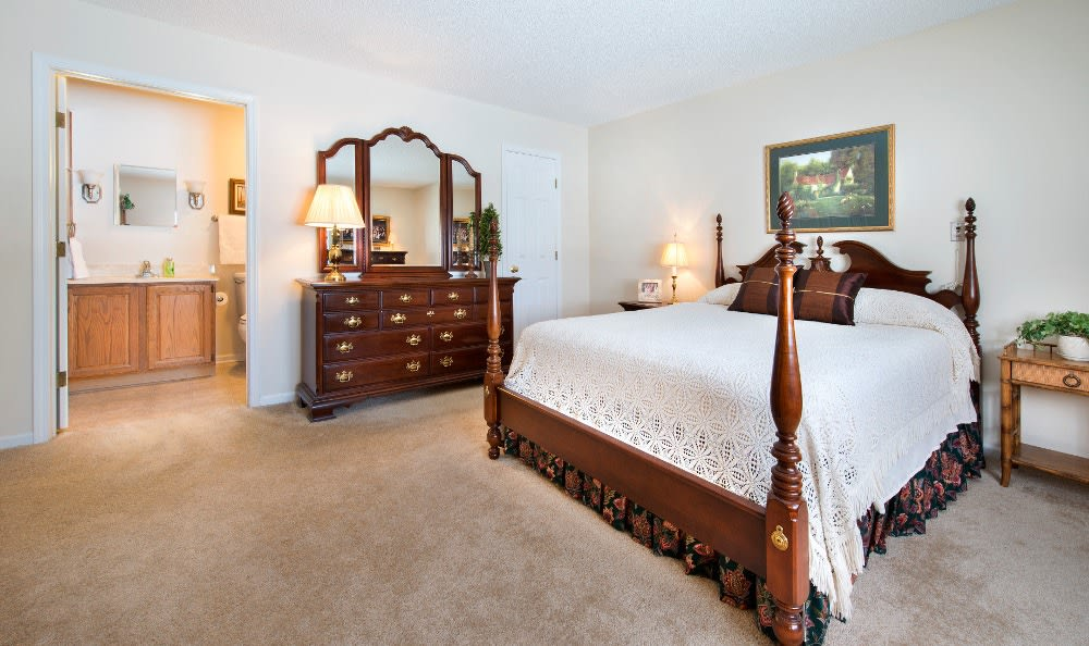 Spacious bedrooms here at our Marion, IN retirement community