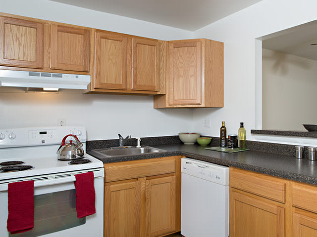 Kitchen at Sherwood Townhomes.