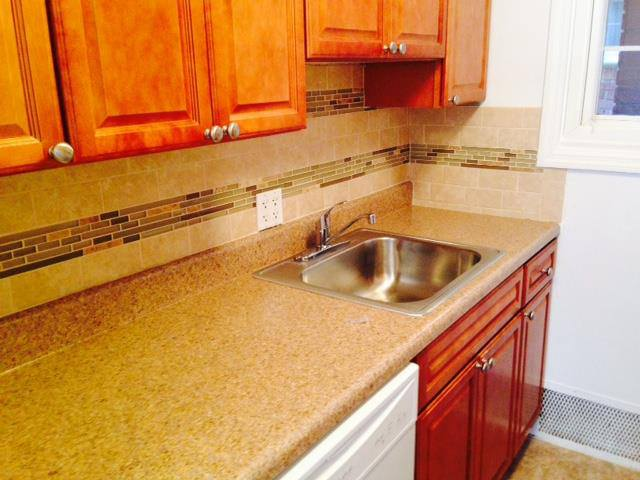 Updated kitchen with dish washer at Eagle Rock Apartments at Mineola.