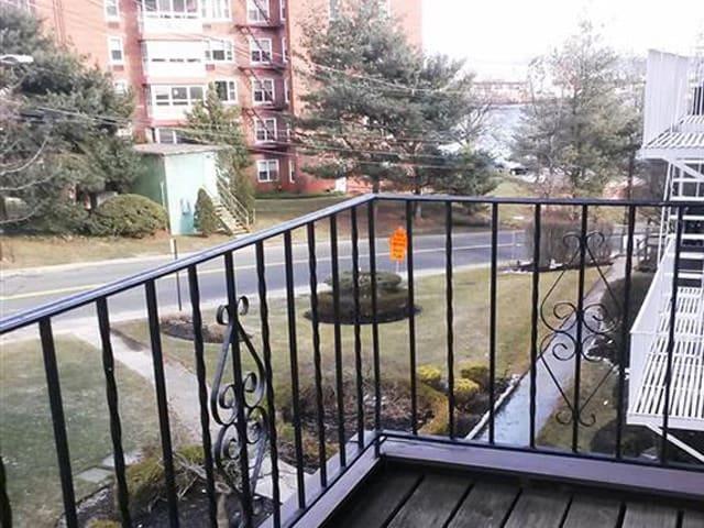 Apartment balcony at Eagle Rock Apartments at South Nyack in South Nyack, NY