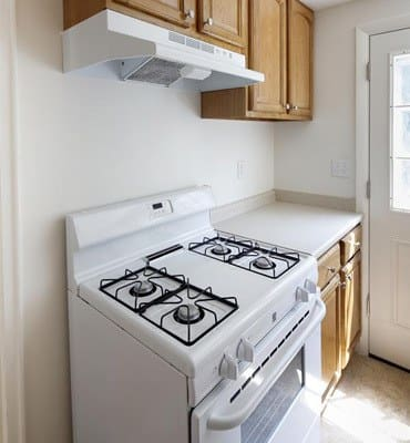 Gas oven at West Gate Townhomes