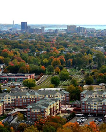 City view in New Haven, Connecticut