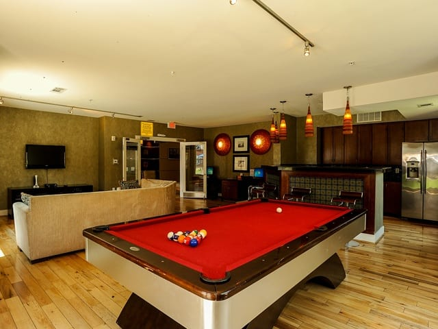 Pool table at Westville Village Apartments in New HavenCT