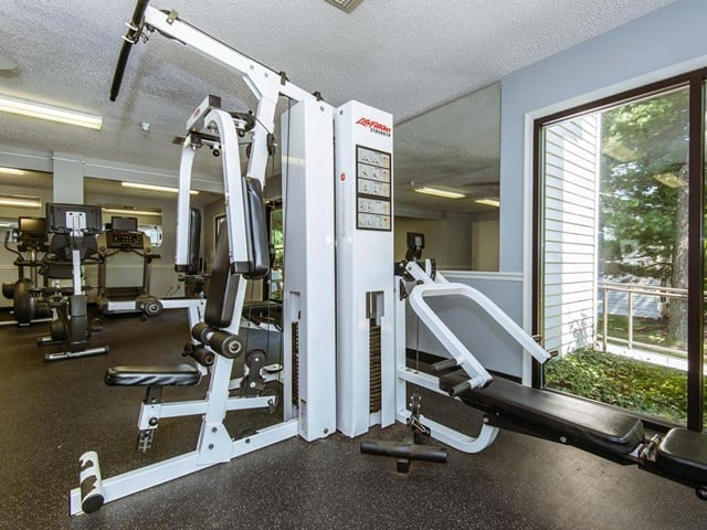 Fitness center at Brookview Apartments.