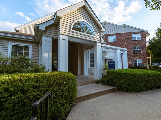 Leasing center entrance at Brookview Apartments.