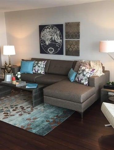 Sitting area at apartments in Philadelphia, Pennsylvania