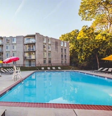 Pool at West River Apartments