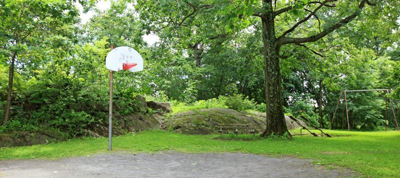 Basketball Court At Apartments In Ossining New York