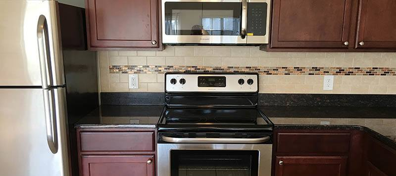 Our Coram apartments come with stainless-steel appliances