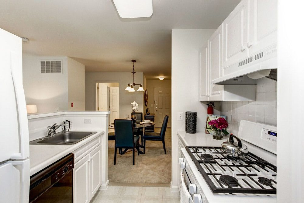 Beautiful Kitchens in the apartments at Eagle Rock Apartments at Freehold