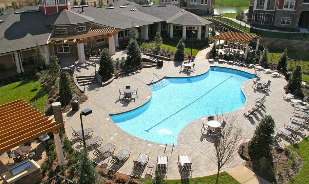 Ooltewah apartments pool from space