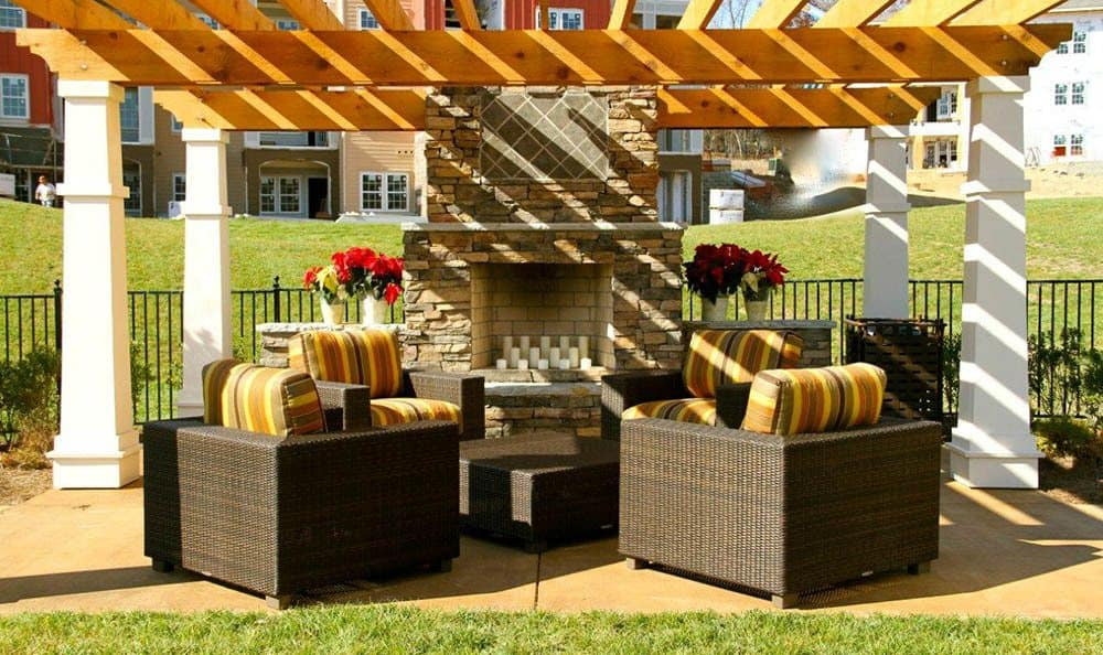Relax by the fireplace at apartments in Ooltewah