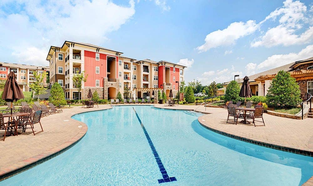 Take a dip at our Ooltewah apartments pool