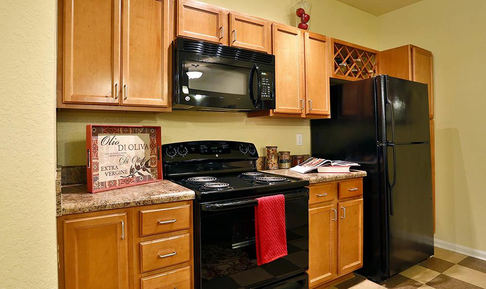 Kitchen at apartments in Rincon
