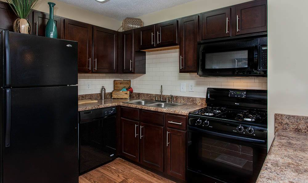 Kitchen at Huntsville apartments