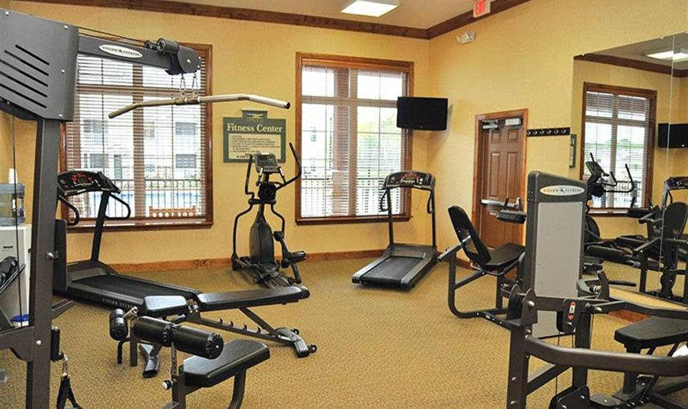 Fitness center at Huntsville apartments