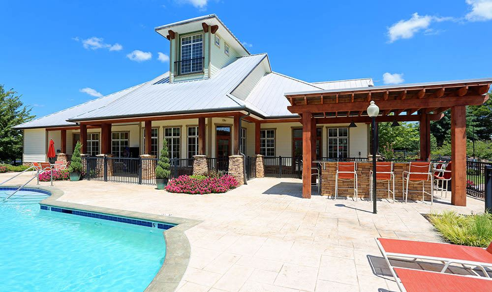 Take a dip at our Huntsville apartments pool