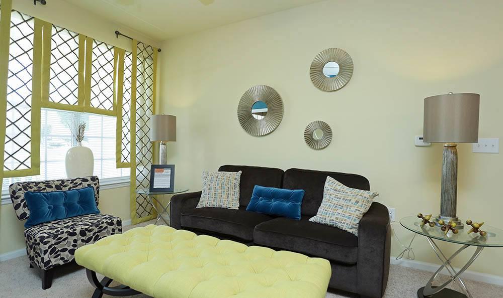 Kick back in your new Huntsville apartment living room
