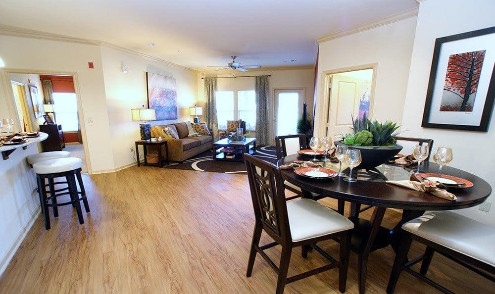 Murfreesboro Apartments living room and kitchen