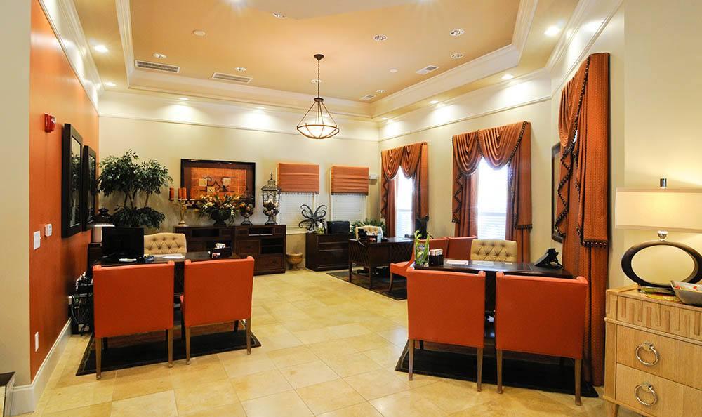 Lobby at Cordova apartments