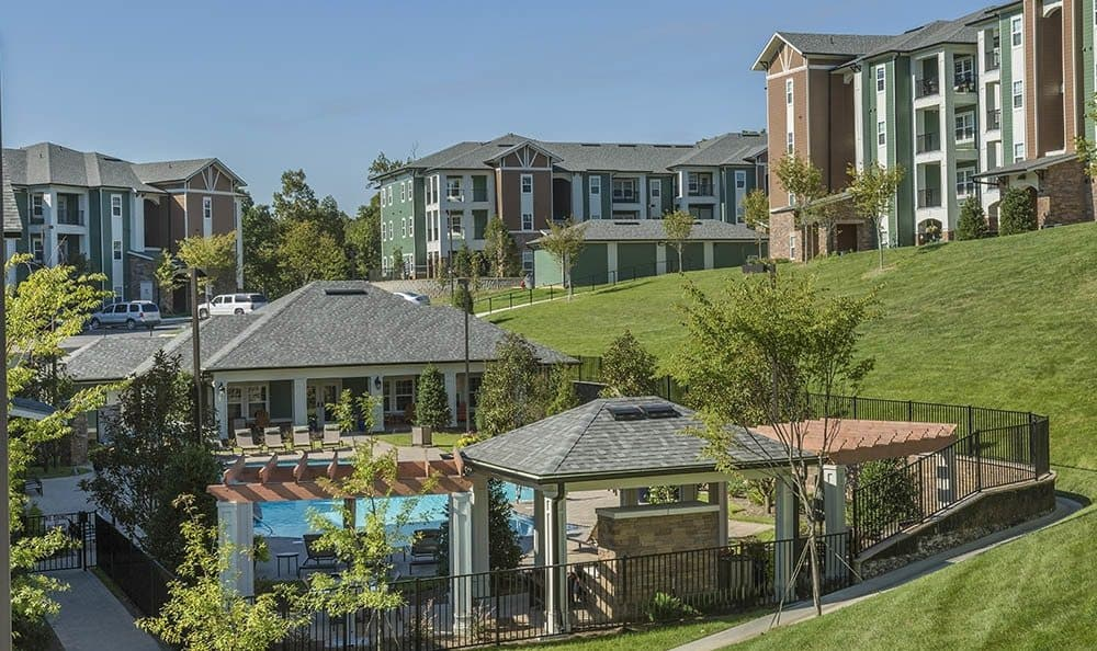 Visit our sparkling Ooltewah apartments pool