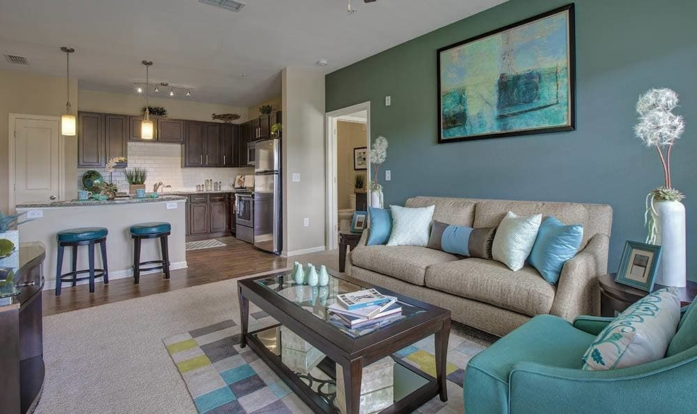 Gorgeous living room at Ooltewah apartments