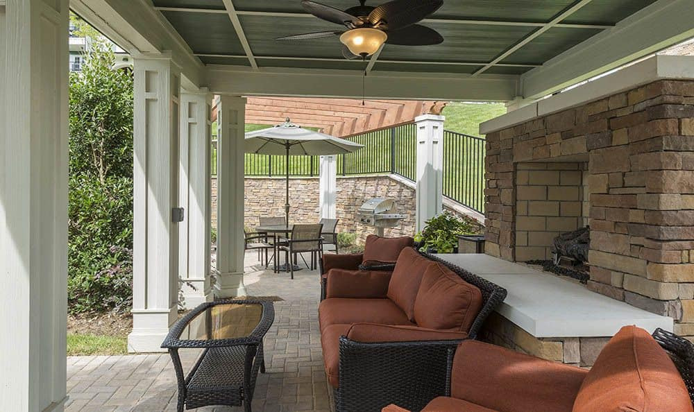 Relax with friends by our Ooltewah apartments fireplace