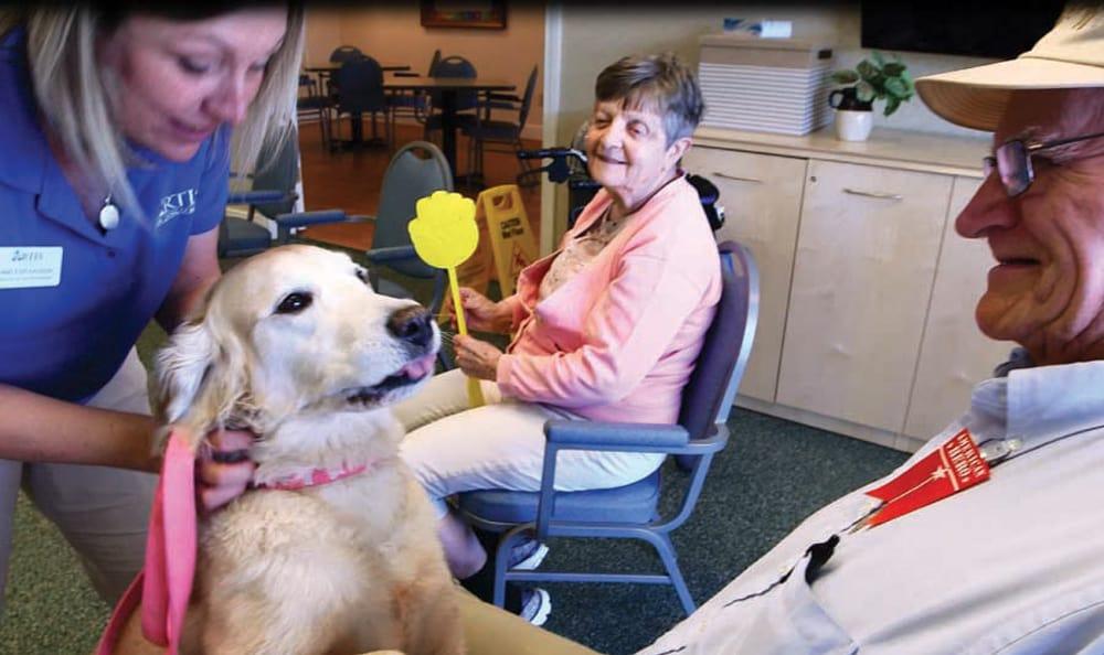 Fun with pets at Artis Senior Living