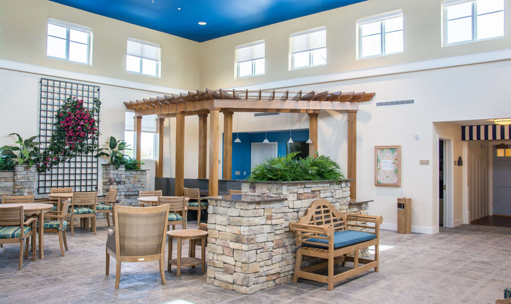 Common area at senior living in Boca Raton