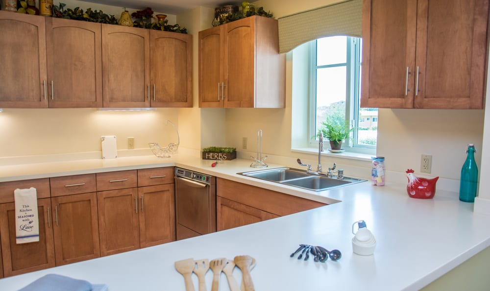 Kitchen at senior living in Boca Raton