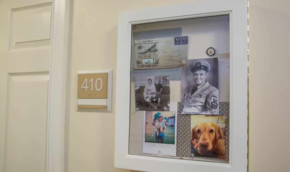 Personal bulletin boards at senior living in Boca Raton