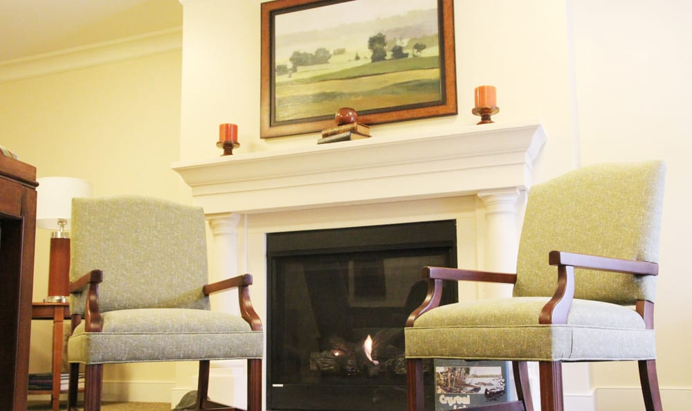 Senior living at Artis Senior Living of Branford includes fire places