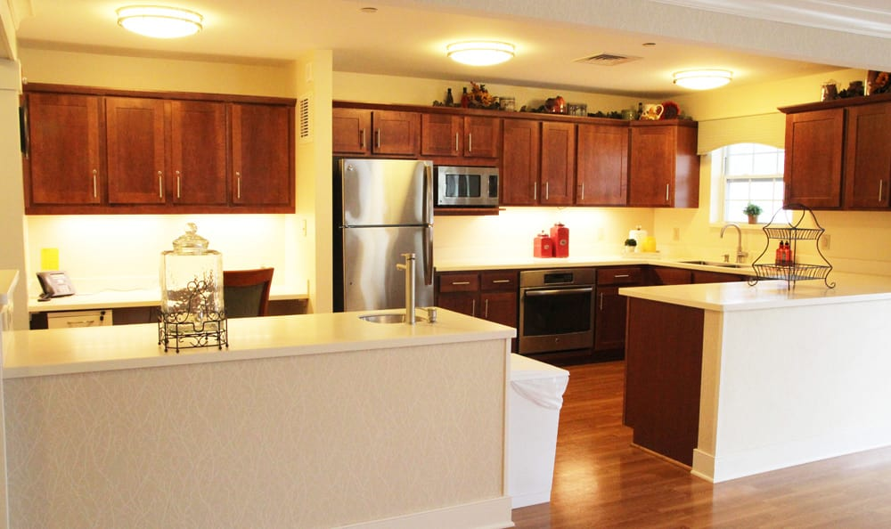 Kitchen at senior living in Branford