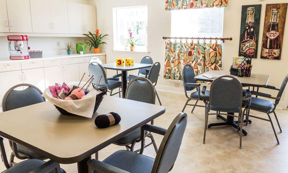 A small dining area at Artis Senior Living of Evesham in Evesham, New Jersey