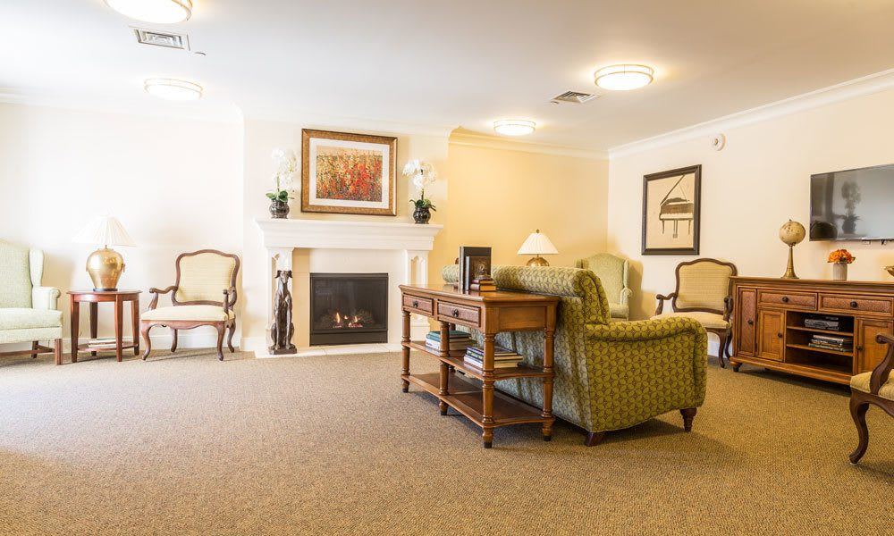 The lobby at Artis Senior Living of Evesham in Evesham, New Jersey