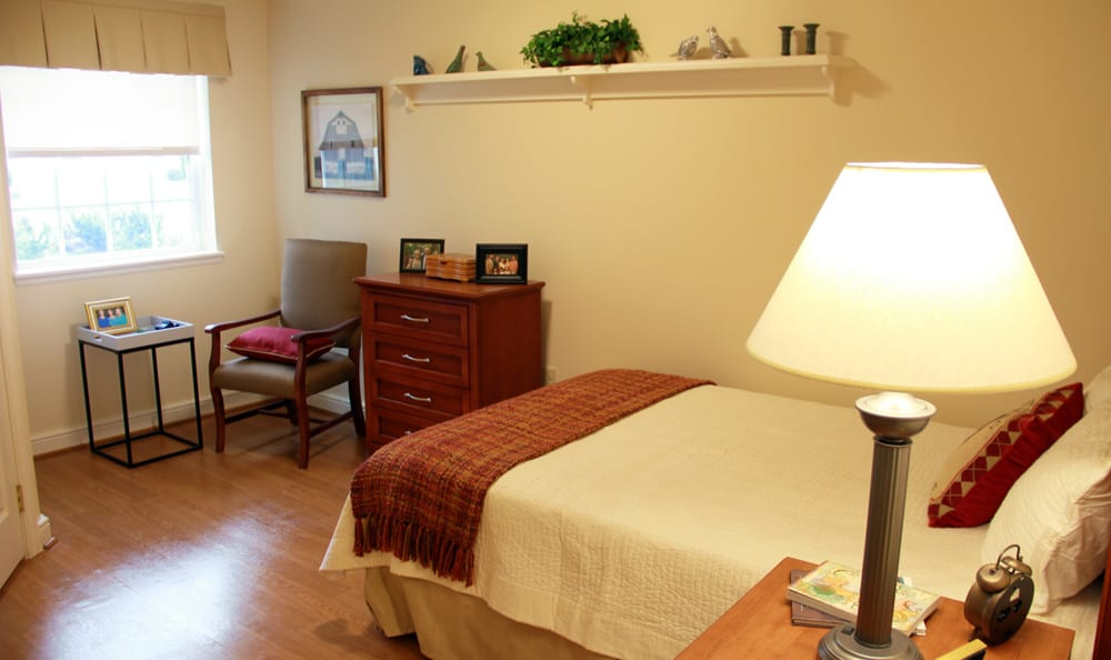 spacious bedroom at senior living in Cincinnati