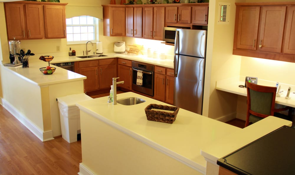 Kitchen at senior living in Cincinnati
