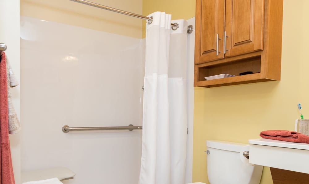 Bathroom at senior living at Lower Moreland
