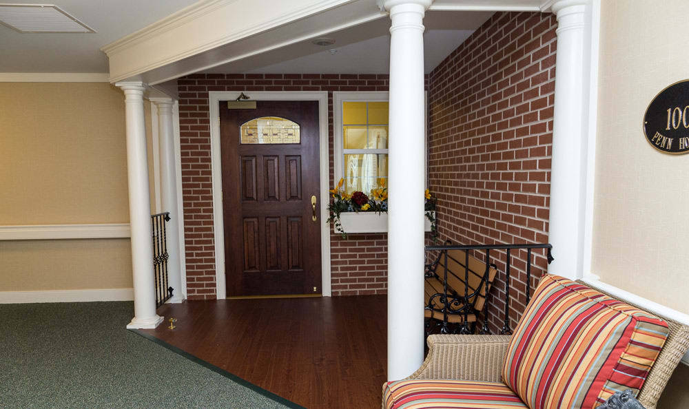 Entryway at senior living in Lower Moreland