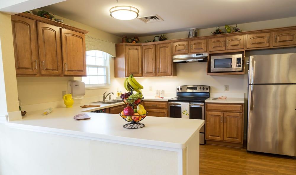 Kitchen at senior living in Lower Moreland