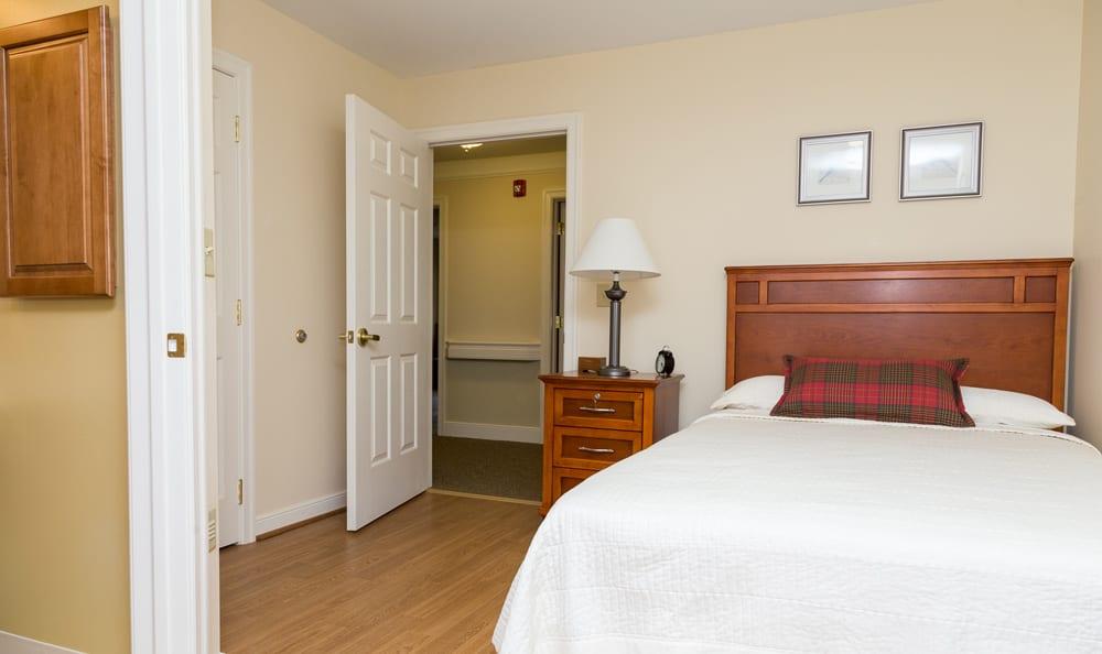 Bedroom at senior living in Lower Moreland
