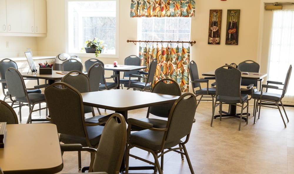 Activity room at senior living in Lower Moreland
