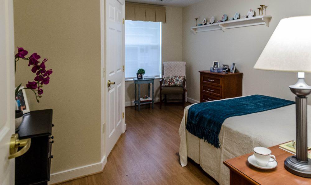 Comfortable bedroom at Artis Senior Living of Princeton