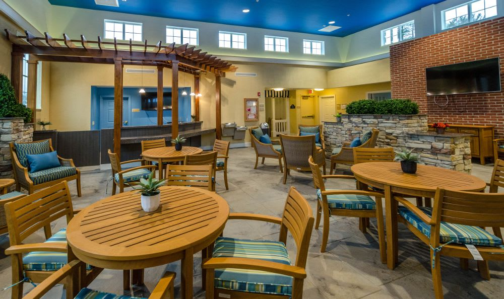 Special dining space at Artis Senior Living of Princeton Junction
