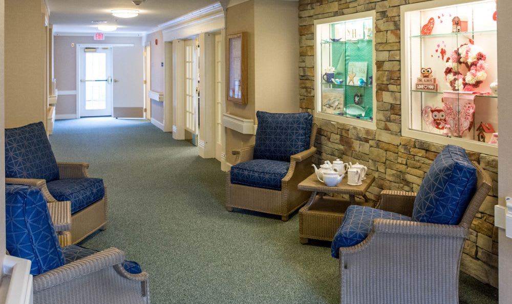 Space for drinking tea at Artis Senior Living of Princeton Junction